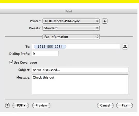 Fax A PDF From Mac